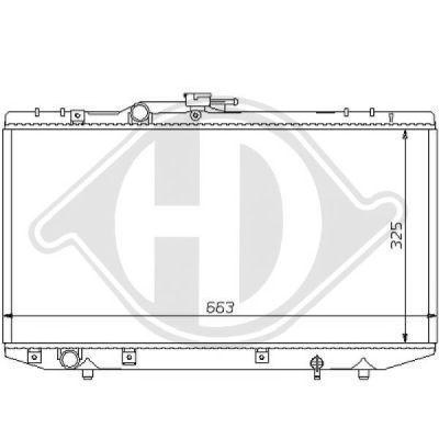 Radiateur, refroidissement du moteur - HDK-Germany - 77HDK8137137