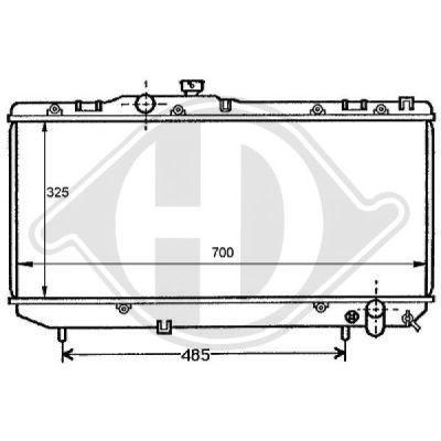 Radiateur, refroidissement du moteur - Diederichs Germany - 8137141