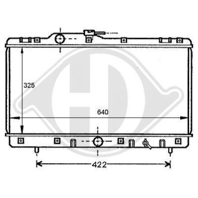 Radiateur, refroidissement du moteur - HDK-Germany - 77HDK8137147
