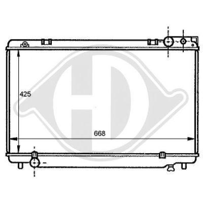 Radiateur, refroidissement du moteur - Diederichs Germany - 8137168
