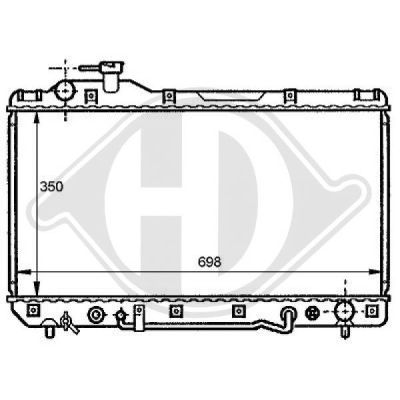Radiateur, refroidissement du moteur - HDK-Germany - 77HDK8137179