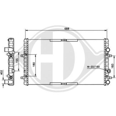 Radiateur, refroidissement du moteur - Diederichs Germany - 8138101