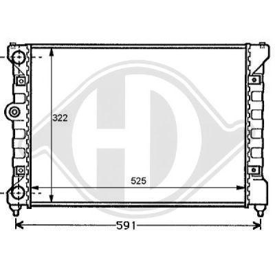 Radiateur, refroidissement du moteur - HDK-Germany - 77HDK8138104