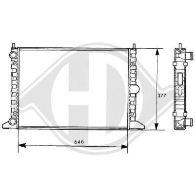 Radiateur, refroidissement du moteur - Diederichs Germany - 8138107