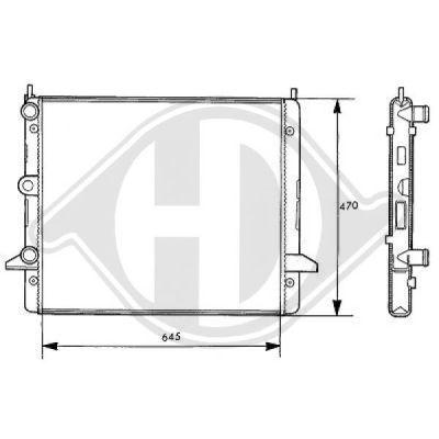 Radiateur, refroidissement du moteur - Diederichs Germany - 8138108