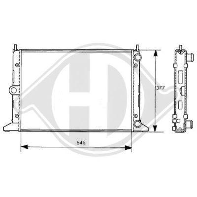 Radiateur, refroidissement du moteur - Diederichs Germany - 8138109