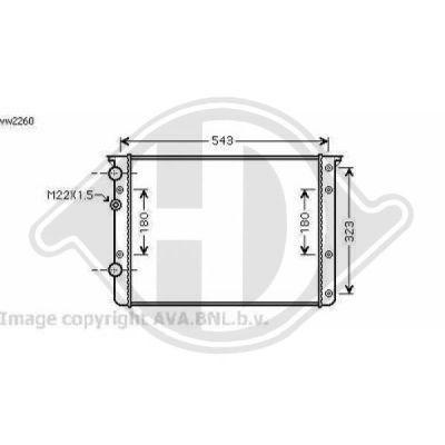Radiateur, refroidissement du moteur - HDK-Germany - 77HDK8138120