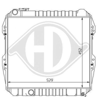 Radiateur, refroidissement du moteur - Diederichs Germany - 8138121
