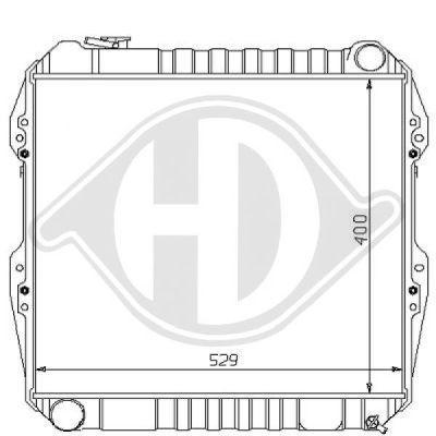 Radiateur, refroidissement du moteur - Diederichs Germany - 8138122