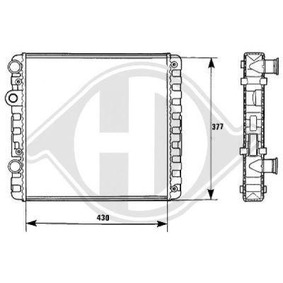 Radiateur, refroidissement du moteur - Diederichs Germany - 8138124