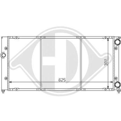 Radiateur, refroidissement du moteur - Diederichs Germany - 8138126