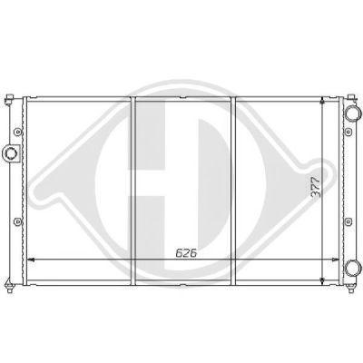 Radiateur, refroidissement du moteur - HDK-Germany - 77HDK8138127