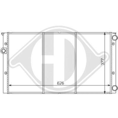 Radiateur, refroidissement du moteur - Diederichs Germany - 8138129
