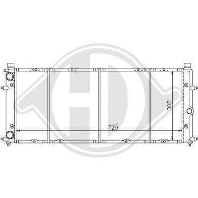 Radiateur, refroidissement du moteur - Diederichs Germany - 8138131