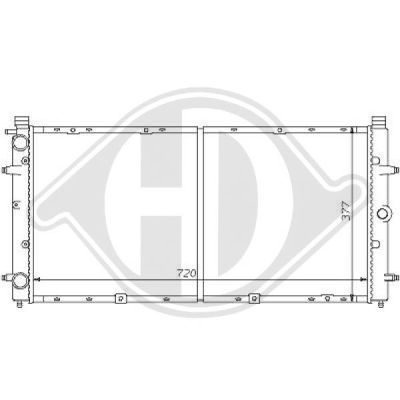 Radiateur, refroidissement du moteur - HDK-Germany - 77HDK8138138