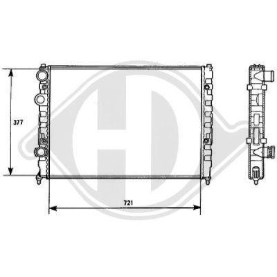 Radiateur, refroidissement du moteur - HDK-Germany - 77HDK8138141