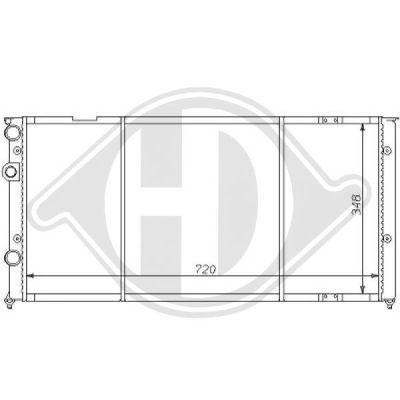 Radiateur, refroidissement du moteur - Diederichs Germany - 8138143