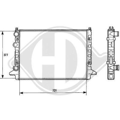Radiateur, refroidissement du moteur - Diederichs Germany - 8138144