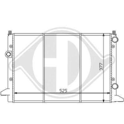 Radiateur, refroidissement du moteur - HDK-Germany - 77HDK8138146