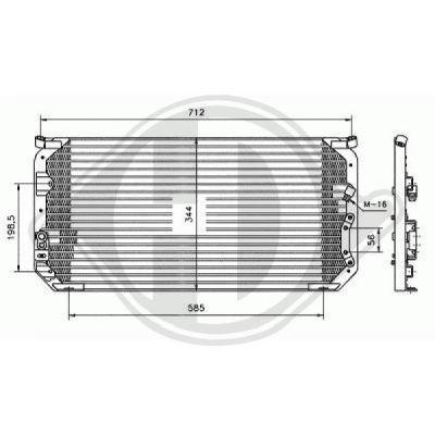 Condenseur, climatisation - Diederichs Germany - 8138164