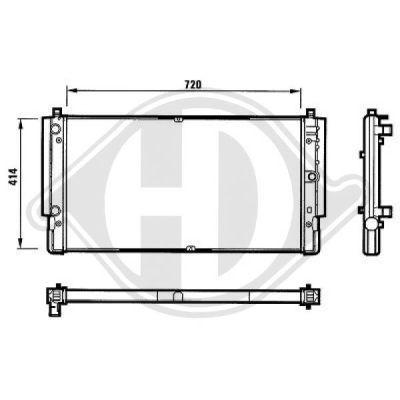 Radiateur, refroidissement du moteur - Diederichs Germany - 8138184