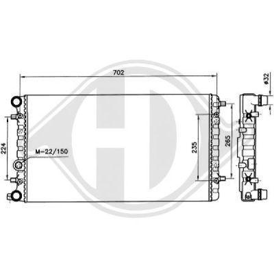 Radiateur, refroidissement du moteur - HDK-Germany - 77HDK8138192