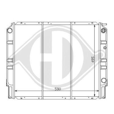 Radiateur, refroidissement du moteur - Diederichs Germany - 8139122
