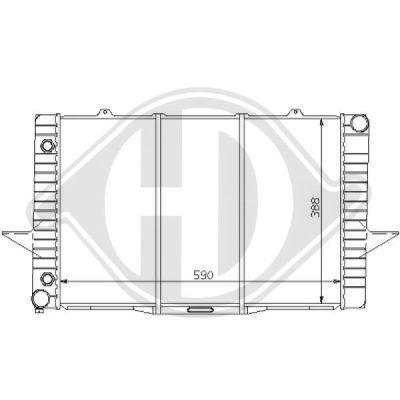 Radiateur, refroidissement du moteur - HDK-Germany - 77HDK8139123