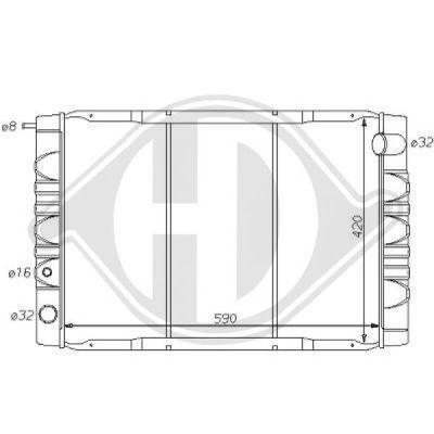 Radiateur, refroidissement du moteur - HDK-Germany - 77HDK8139132