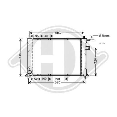 Radiateur, refroidissement du moteur - Diederichs Germany - 8140120