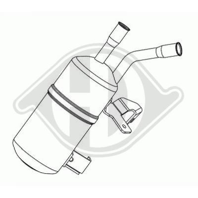 Filtre déshydratant, climatisation - Diederichs Germany - 8140302