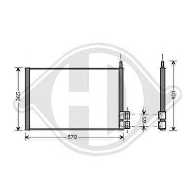 Condenseur, climatisation - Diederichs Germany - 8140400