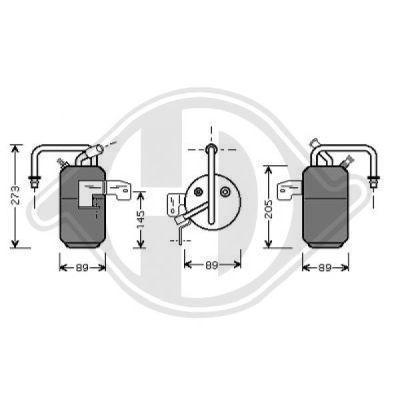 Filtre déshydratant, climatisation - Diederichs Germany - 8140401