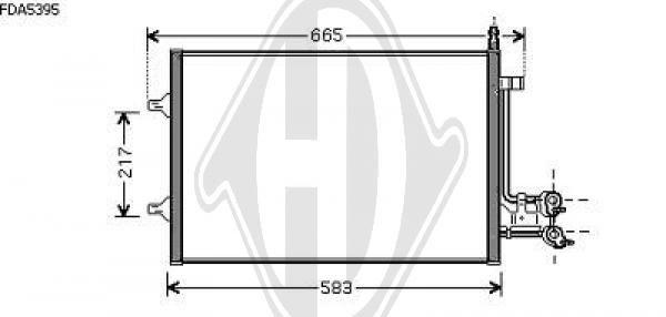 Condenseur, climatisation - Diederichs Germany - 8140402