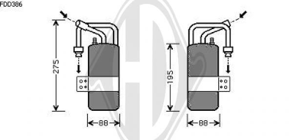 Filtre déshydratant, climatisation - Diederichs Germany - 8140403