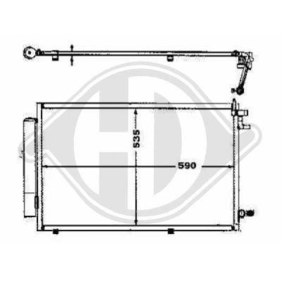 Condenseur, climatisation - Diederichs Germany - 8140500