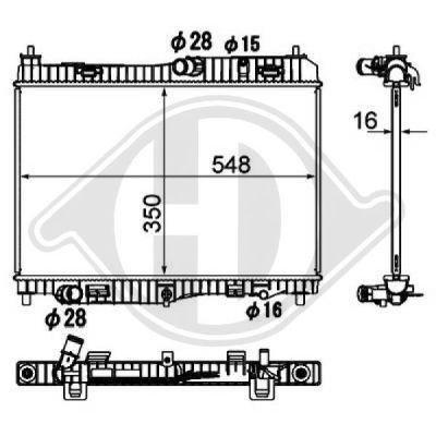 Radiateur, refroidissement du moteur - Diederichs Germany - 8140506