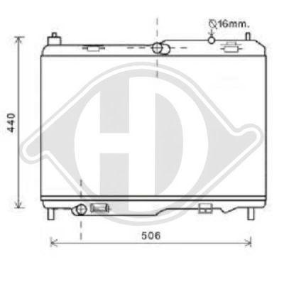 Radiateur, refroidissement du moteur - HDK-Germany - 77HDK8140507
