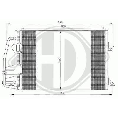 Condenseur, climatisation - Diederichs Germany - 8141400