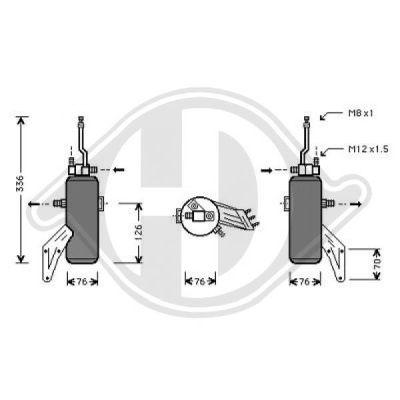 Filtre déshydratant, climatisation - Diederichs Germany - 8141401