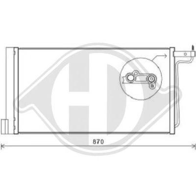 Condenseur, climatisation - Diederichs Germany - 8141801