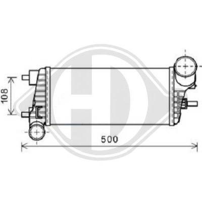 Intercooler, échangeur - HDK-Germany - 77HDK8141804