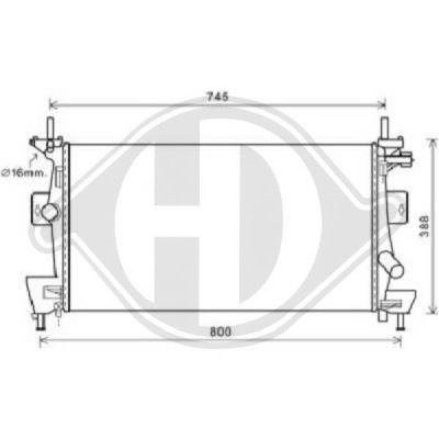 Radiateur, refroidissement du moteur - HDK-Germany - 77HDK8141805