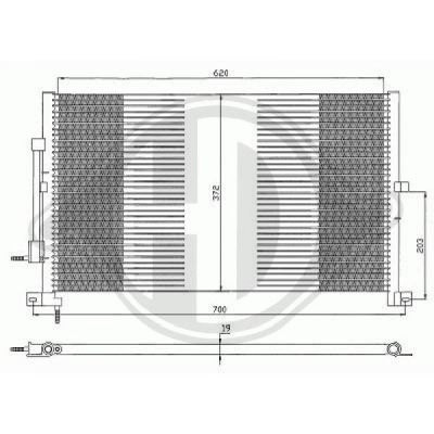 Condenseur, climatisation - Diederichs Germany - 8142700