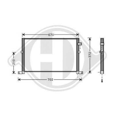 Condenseur, climatisation - Diederichs Germany - 8142701