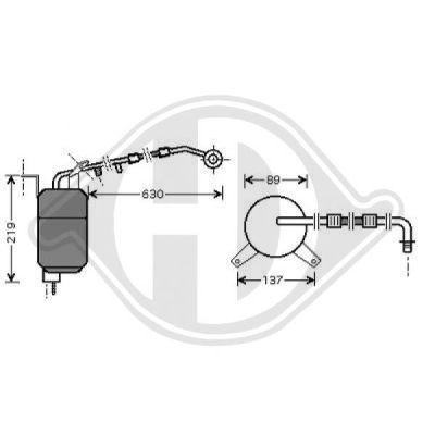 Filtre déshydratant, climatisation - HDK-Germany - 77HDK8142702