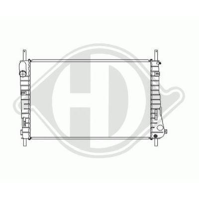 Radiateur, refroidissement du moteur - Diederichs Germany - 8142706