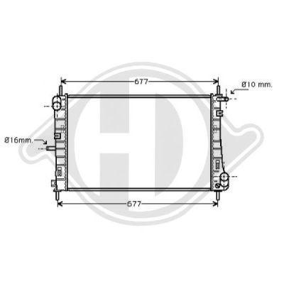 Radiateur, refroidissement du moteur - HDK-Germany - 77HDK8142708