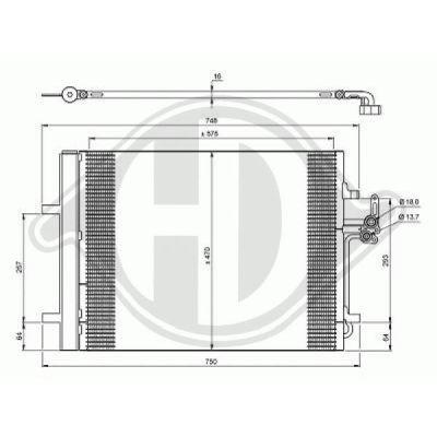 Condenseur, climatisation - Diederichs Germany - 8142800