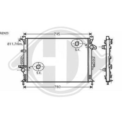 Radiateur, refroidissement du moteur - Diederichs Germany - 8142805